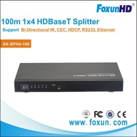 1 HDMI to 4 LAN Splitter with 3D, RS232, CEC and Ethernet, on HDBaseT 5 play tec