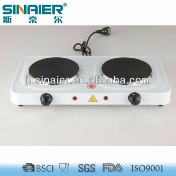 2 Burner Table Top Electric Cooking Stove 1000W~2000W, Electric Hotplate