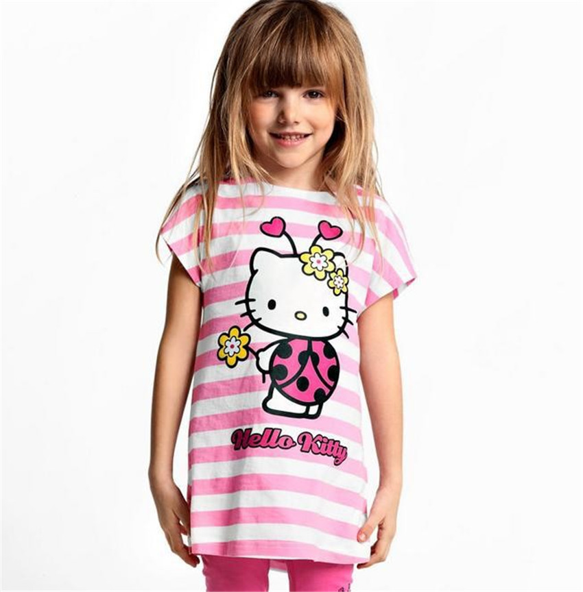 7d45cd183 2019 New Baby Kids Hello Kitty Clothing Set Girl Suit T Shirt+Pants ...
