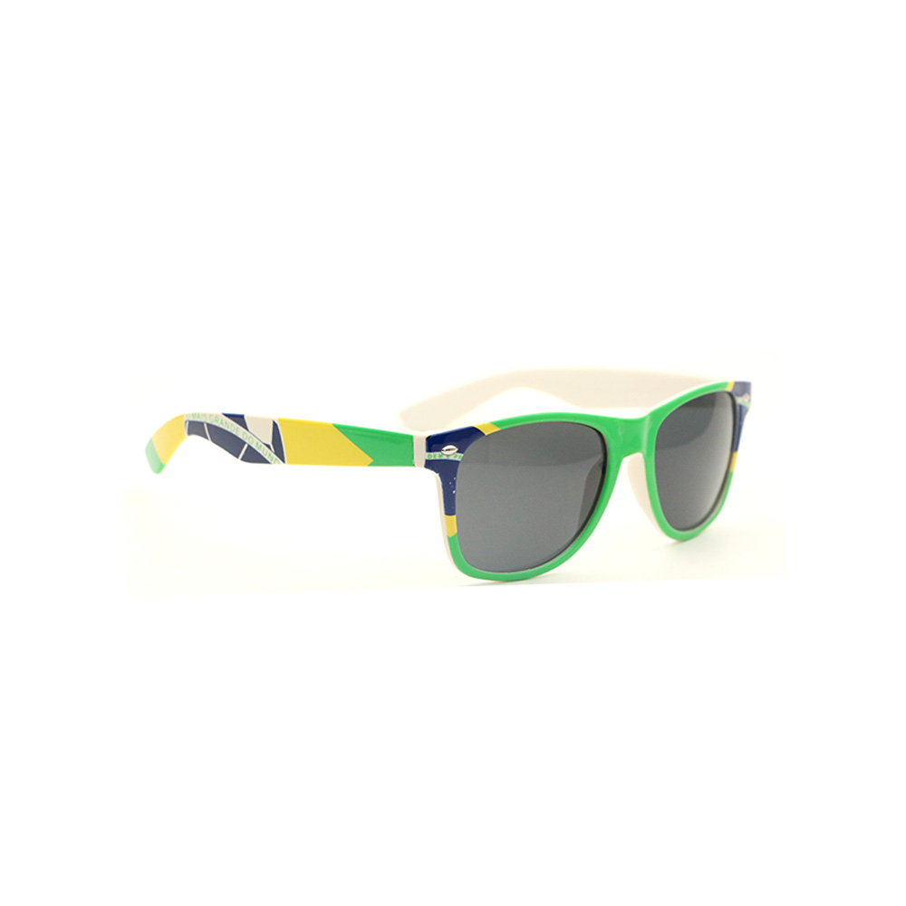 Free sample custom Brazil flag sunglasses CE eyeglasses for men women