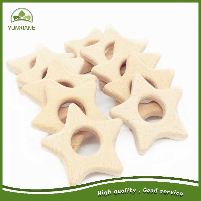 Star Shape Wooden Baby Teethers Safe Newborn Toddler Kids Teething Toys  Chew - Buy Unfinished Beech Wooden Teethers Pacifier New Farther Mother  Baby