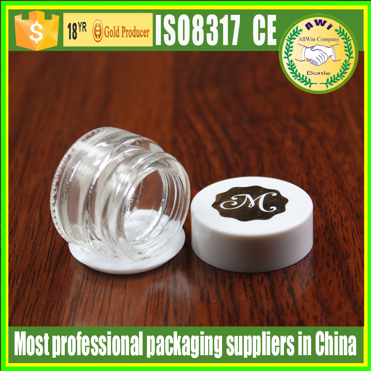 eco friendly cosmetic containers small clear glass candle jar with aluminum top