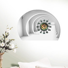 3d chambre décor horloge décor wall sticker