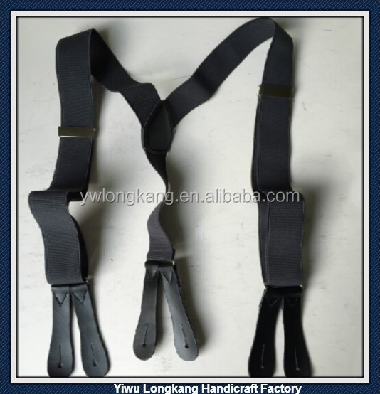 2016 Yiwu High quality best prices leather end braces suspenders,fashion men's suspenders,