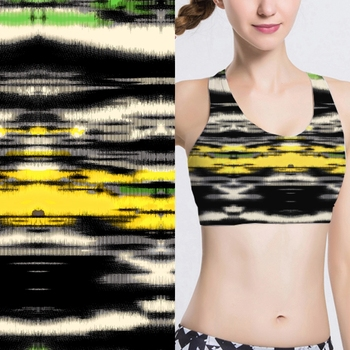 High quality polyester spandex stretch digital printed fabric for yoga sportswear