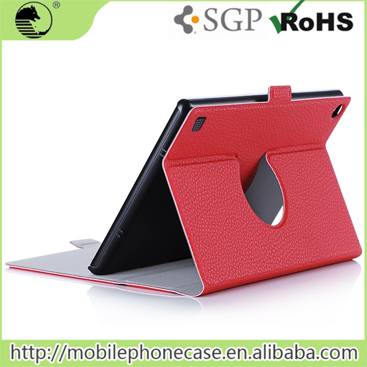 Luxury PU-Leather Cases For Kindle Fire Hdx 7 Thin Rotate Case With An Easy Clip