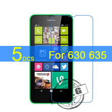 5pcs Ultra Clear LCD Screen Protector Film Cover For Nokia Lumia 630 635  Protectiv Film  +  cloth