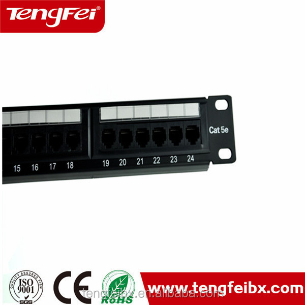 19'' 180 degree UTP Cat 6 24 port 1u 48 port patch panel