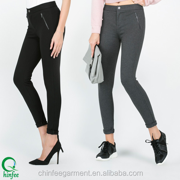 Fashion Ladies Casual Slim Full Length Pants Trousers