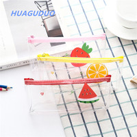 german school supplies korean kawaii stationery catalogue clear pvc pencil case students zipper personalized pencil bag