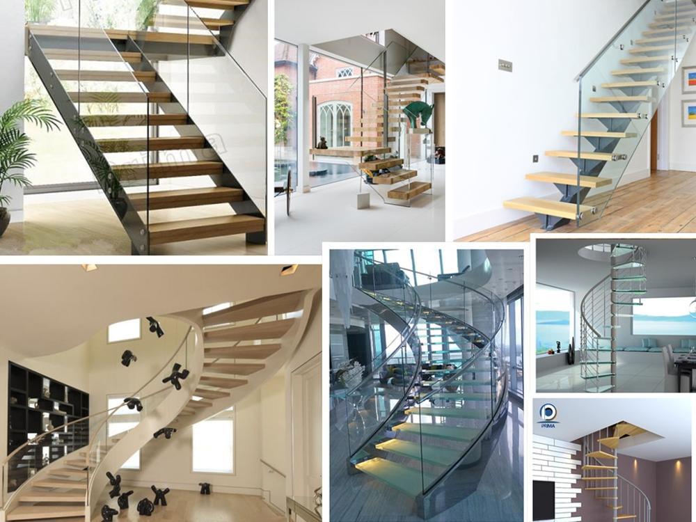 Ontwerp metalen trap trappen in woningen staal rvs of aluminium