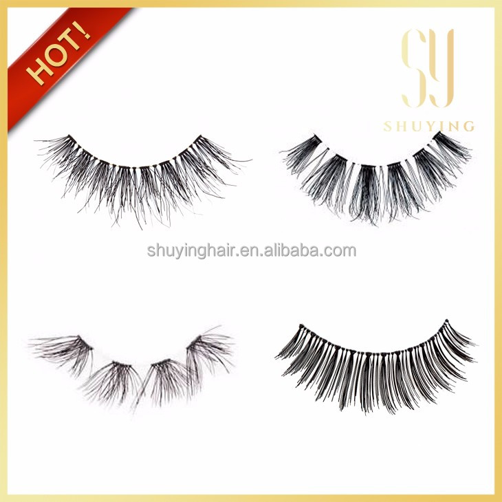OEM service 100% human hair lashes false eyelash human hair eyelashes