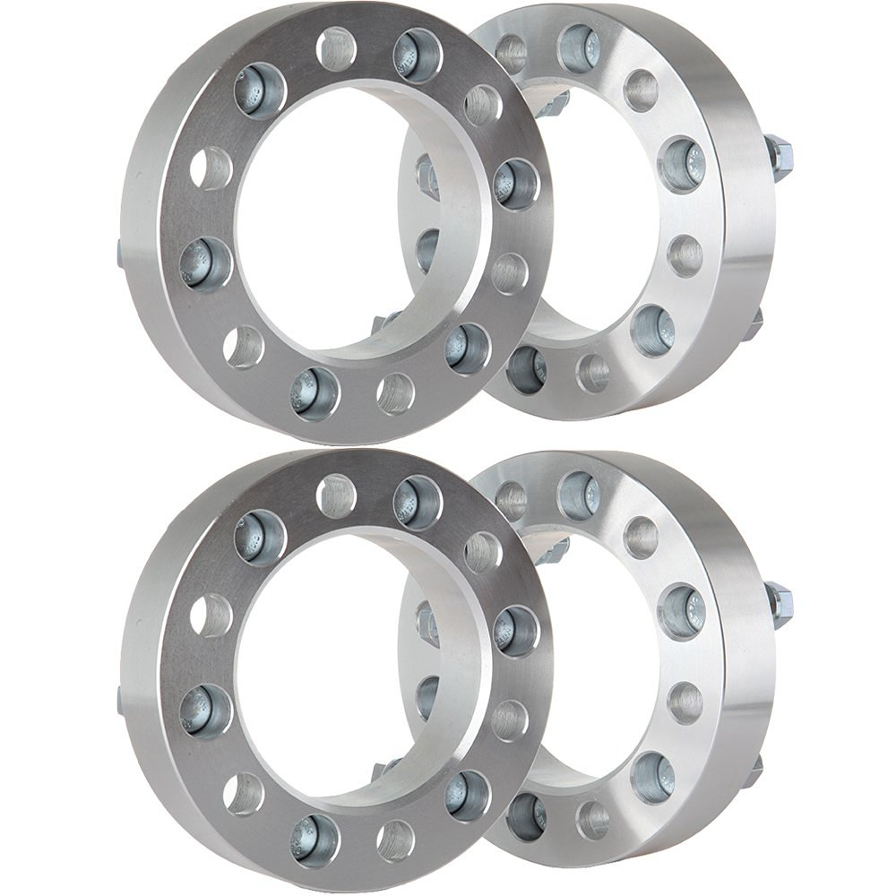 Scitoo 4pc | 1.5 inch thick | 6x5.5 to 6x5.5 Wheel Spacers | 14x1.5 Studs W/24 Lug Nuts Adapters For 1999-2012 Cadillac Escalade Chevrolet Silverado 1500 Tahoe GMC Sierra 1500 Yukon