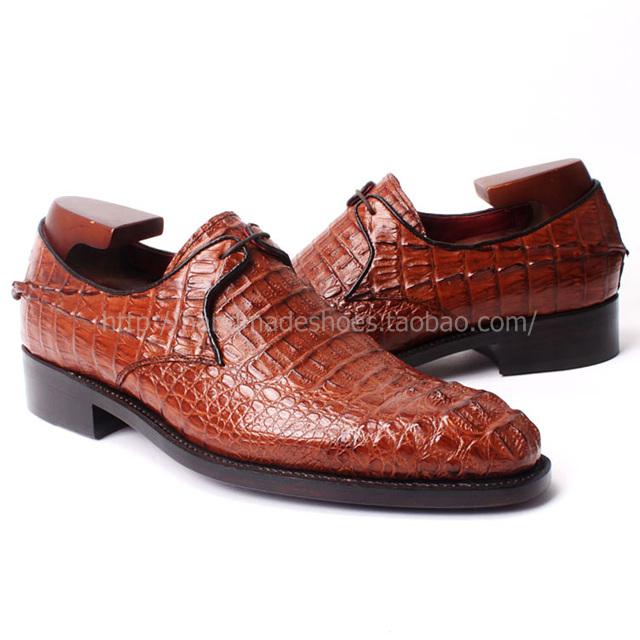 37e4a7387 DICOO Crocodile Fancy Mens Dress Shoes Python Black Mens Alligator Dress  Shoes Goodyear Round Toe Men