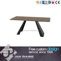 Wooden top panel dining tables natural wood slab dining tables