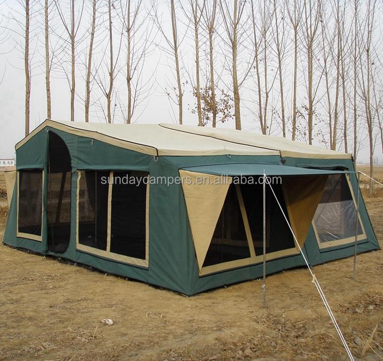 Aluminum Light Weight Caravan Camper Trailer With Roof