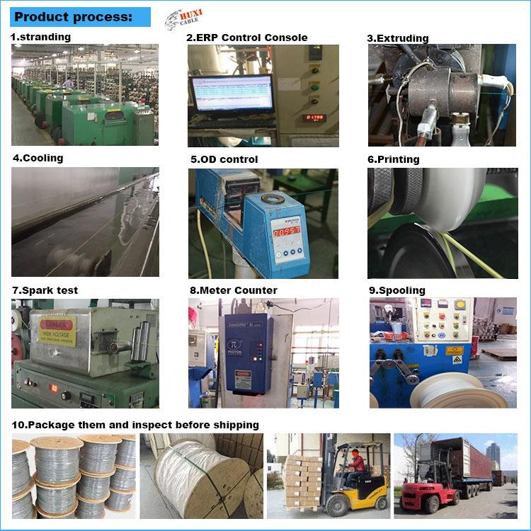 Huxi-cavo di fabbrica prezzo a buon mercato con alta qualità 4AWG filo di installazione per auto amplificatore audio