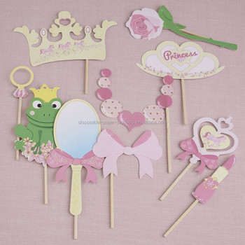 Vintage Theme Party Shabby Princess Photo Booth Party Props Buy Princess Photo Booth Party Props Princess And Pony Pink Party Paper Bunting Princess