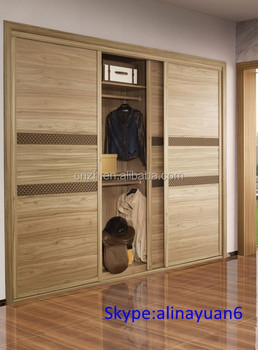 Wood Grain Swing Built-in Bedroom Wardrobe Furniture Sets,Bedroom ...