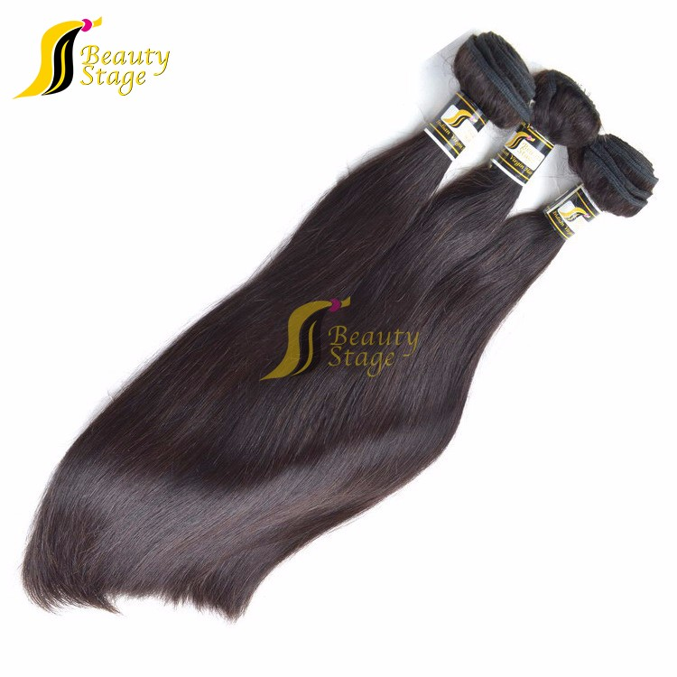 Raw human virgin hair AAAAAA +New Style Sliky Straight Natural Color Human Hair,Wholesale Price Natural Indian Hair Extension