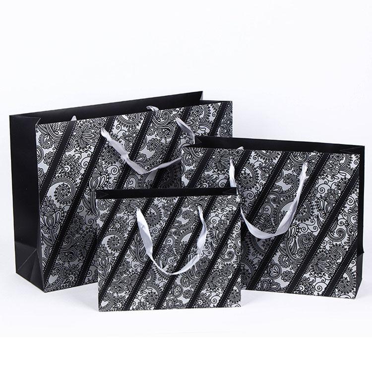 Taille Standard Recycler sac En Papier Kraft Vert avec Poignées Torsadées En Papier