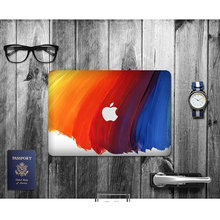 Hot design rainbow color cover your computer vinyl skin waterproof for apple macbook air 13 laptops