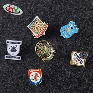 China manufacturer custom soft enamel metal lapel pin badges with butterfly clutch