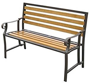 (Ship from USA) Folding Bench Outdoor With Back And Seat Wood Slats Patio Porch Garden Romantic /ITEM NO#8Y-IFW81854185519