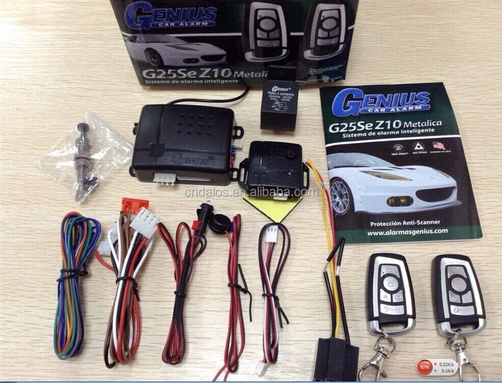 Hopping Code One Way Car Alarm System , One Way Car Alarm with Remote Control