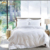 JR126 Hotel Linen 210TC 100%  Cotton Single Size Printed Bed Cover Sheet