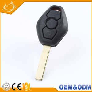 Popular plastic 3 buttons wireless auto key shell Blank Remote Car Key for  BMW E46 E60 E90