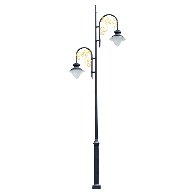 Light Pole Arm: Zhongshan Manufacture Double Arms Outdoor Street Light