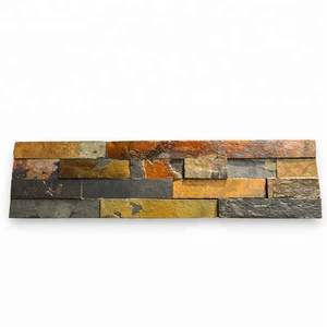 Natural Stone Veneer Mixed Color Wall Stone Panel Culture Stone