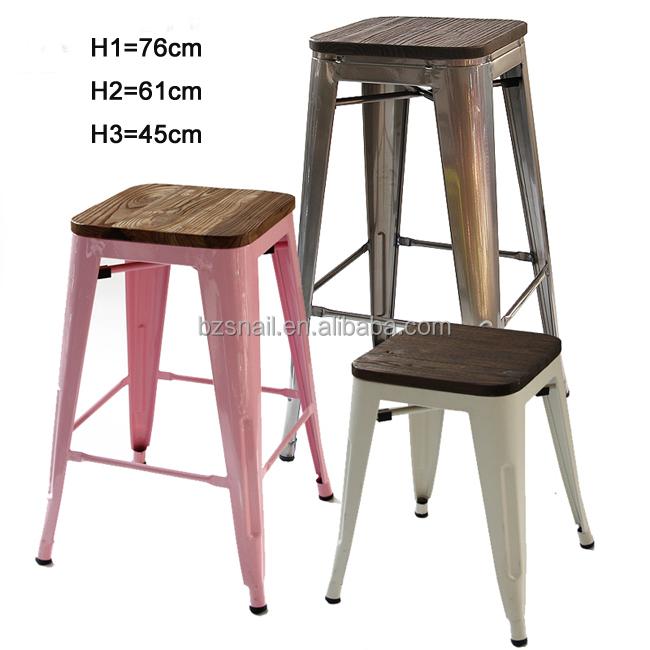 industrielle en métal restaurant table et chaise, moderne ... - Chaise Metal Industriel Pas Cher