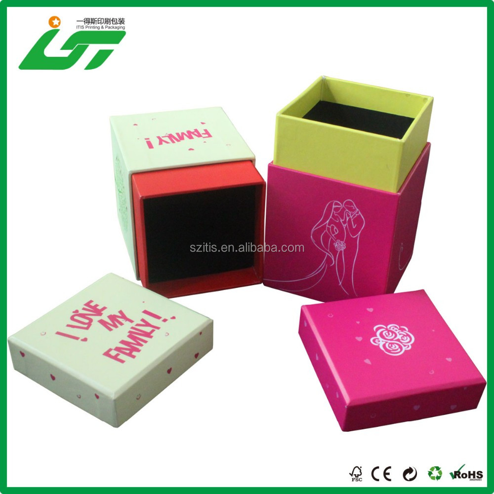 colorful paper printed retail tea box with logo on top