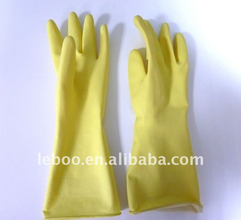household cleaning gloves, long sleeve