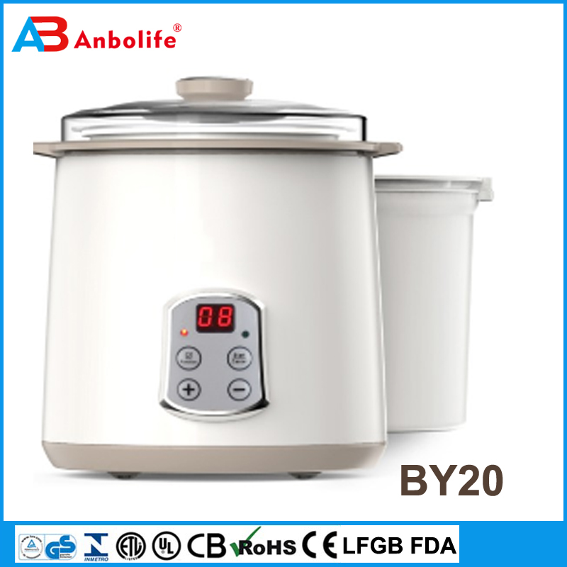 Anbo new LCD screen home self serve electronic digital automatic yogurt marker electric plastic yogurt maker machine