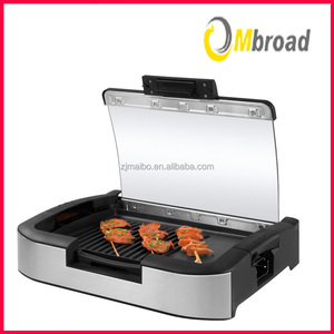 new products 1800-Watt non stick Electric Grill Griddle with Glass Lid