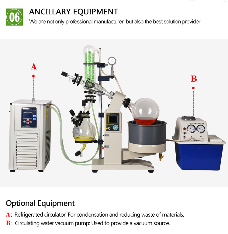 2018 The New Rotary Evaporator With Vertical Condenser And Oil Bath