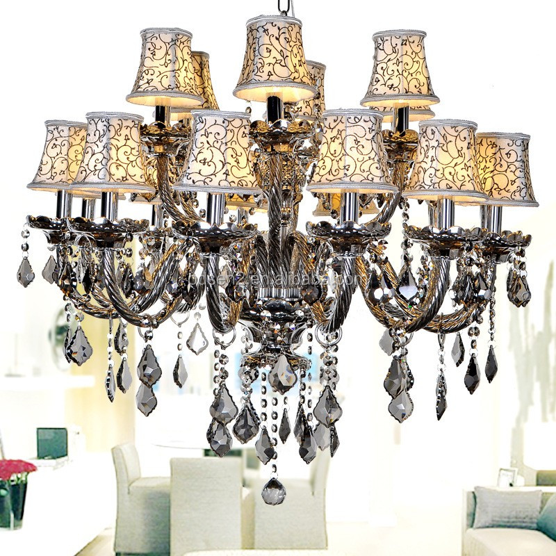 turkish black crystal chandelier with candle shape 3,5,6,8,10,12 <strong>lights</strong>