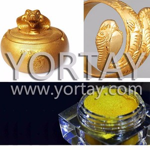 Gold Luster Pearl Pigment Powder for coating / Pearl Pigments manufacturer