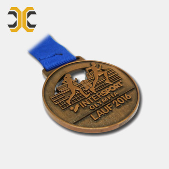 Custom chocolate colour metal sport medal