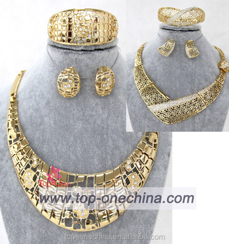 Nigerian Wedding African Jewelry Set Costume Jewelry Sets 18k Gold