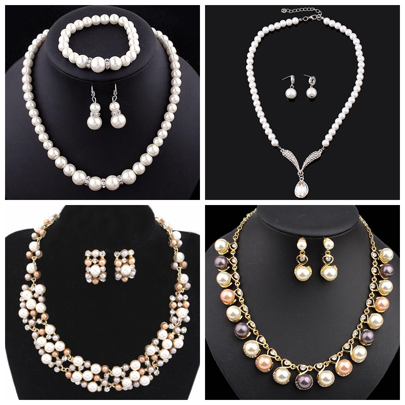 Hot bisuteria imitation jewelry pearl necklace