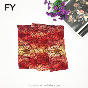 FY custom women's long scarf digital printing with your own design silk scarf
