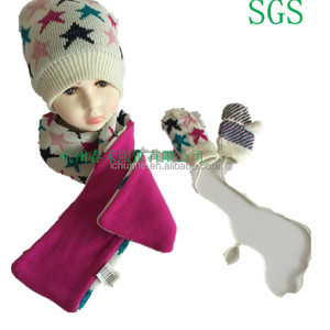 majored factory produce winter 100% acrylic knitted boys girls kids baby knitting scarf hat glove sets