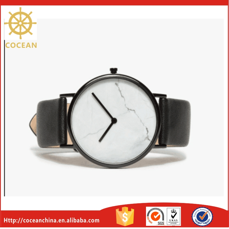 Promotional Items Wrist Watches For Men and Women Stainless steel Watch Case Wrist Watches Men With Marble Face
