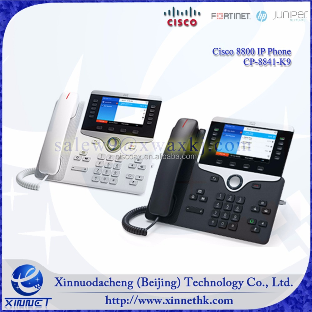 Original Cisco 8800 IP Phone 8841 Series CP-8841-K9 , widescreen VGA, High-quality Voice Communication, cisco EnergyWise