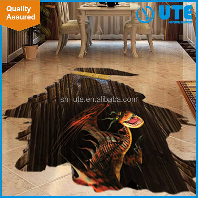 Custom decorative printing 3d floor sticker