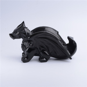 Hand Made Carving High quality hand carved obsidian flying dragon crystal for sale